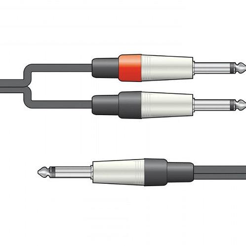 190.02 | Audio Lead | 6.3mm Mono Jack to 2 x 6.3mm Mono Jack Leads