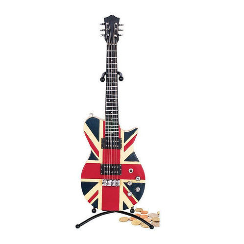 254944B | Gift | Money Box | Money Box Electric Guitar Union Jack