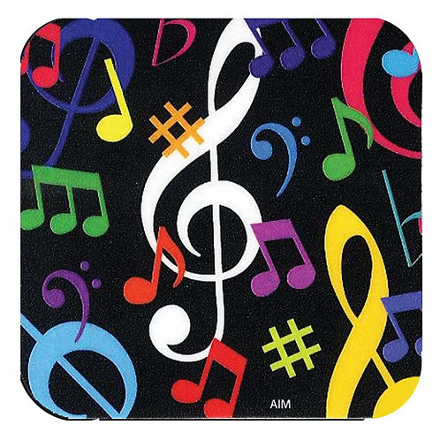 236780L | Coaster | Drinks Coaster Multi-coloured Music Notes