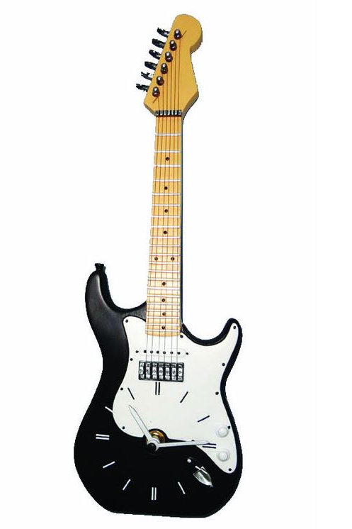 258541R | Gift | Wall Clock | Iconic Guitar Shape