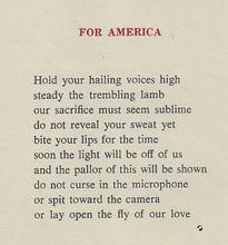 For America Poem