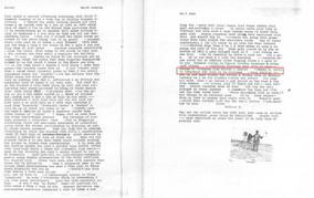 Letter written by Wallace Berman to friend David Meltzer.