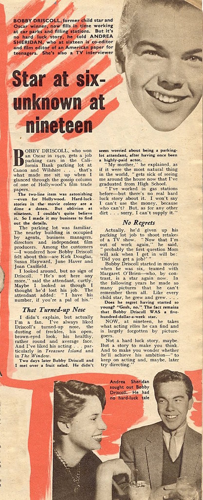 star at six - unknown at nineteen article
