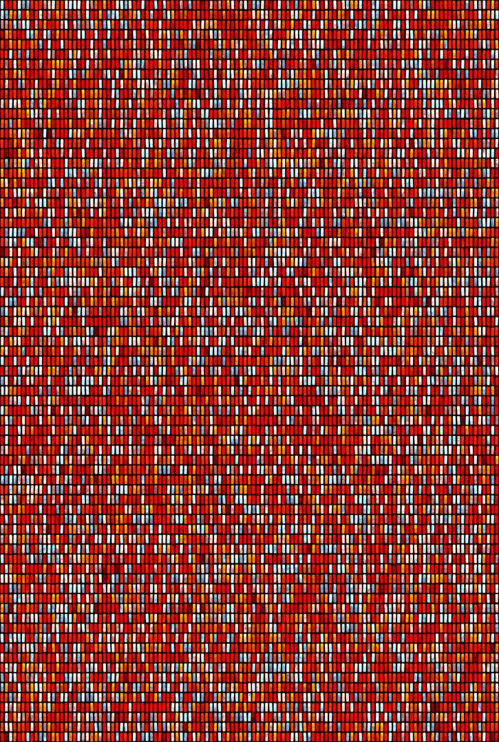 Metamorphosis 00-R-07, 193.9x130.3cm, 14