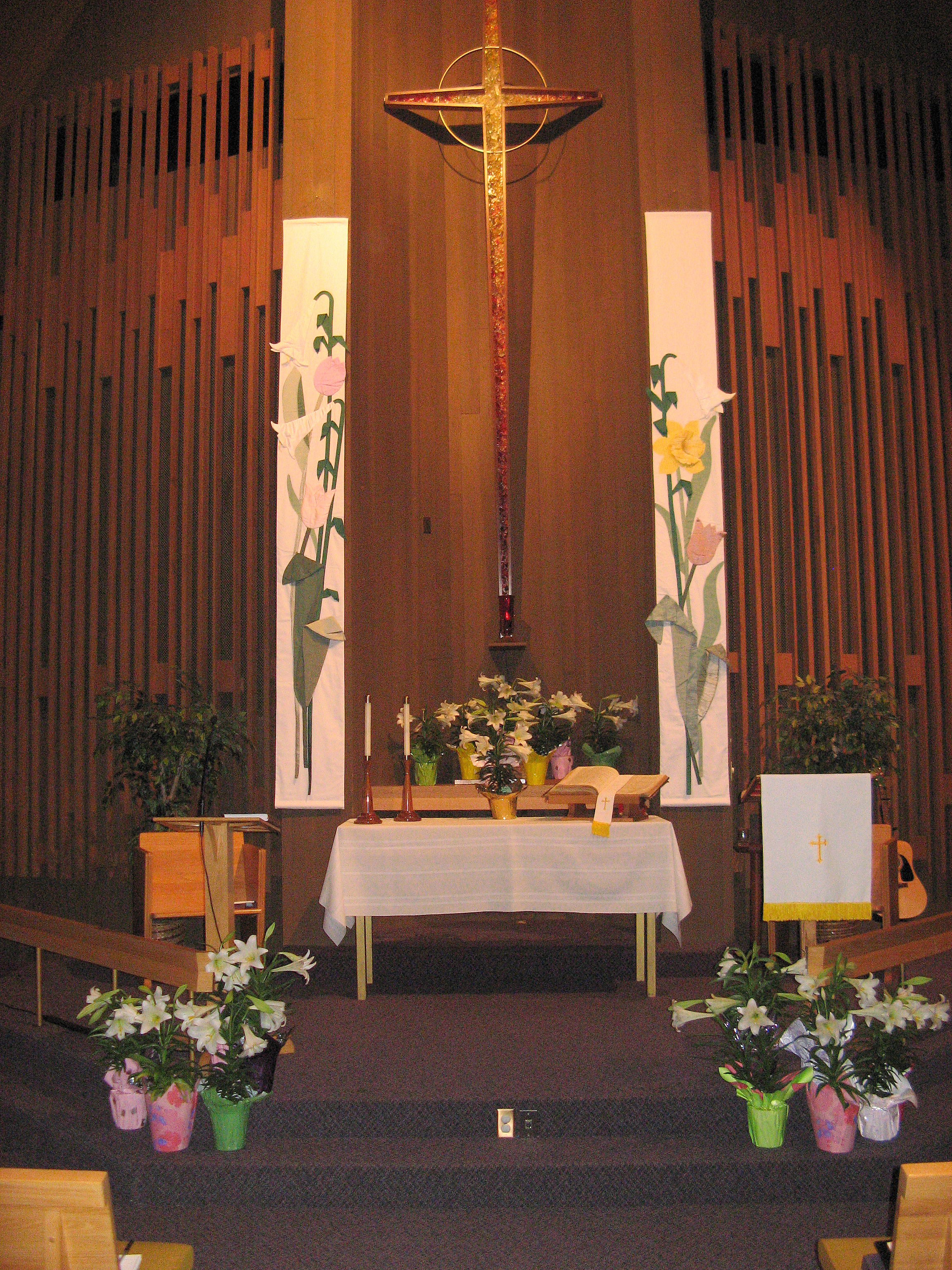 Easter Lilly Altar