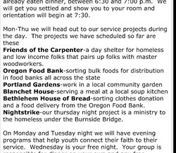 Youth Mission projects summer 2015