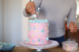 Pink cake with sprinkles