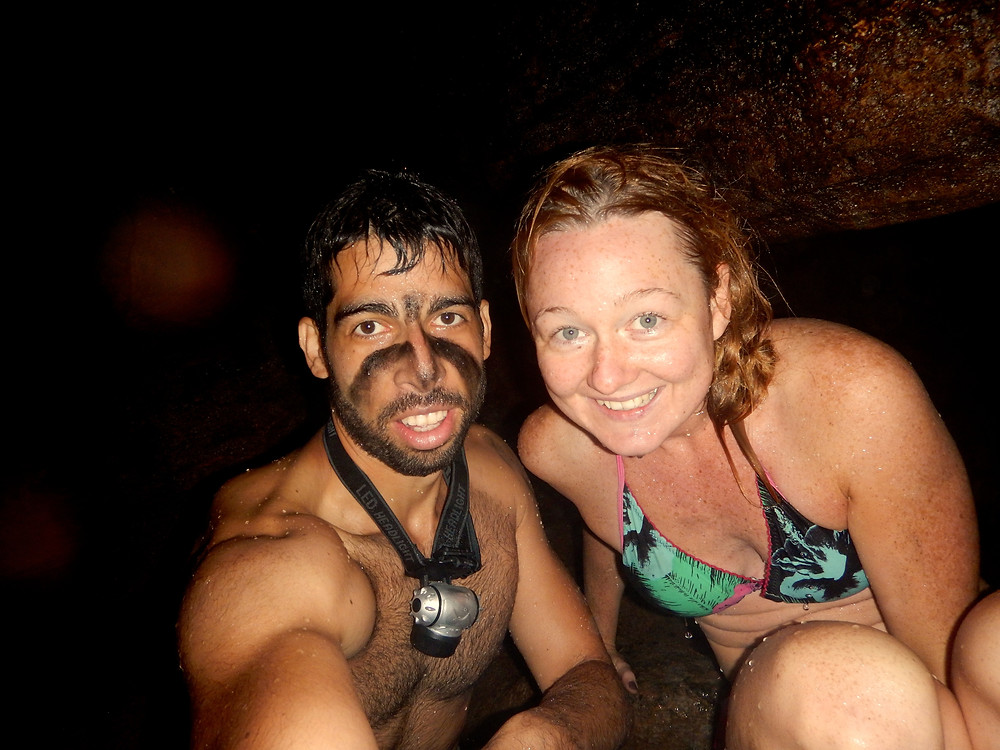 Man and woman posing for a selfie