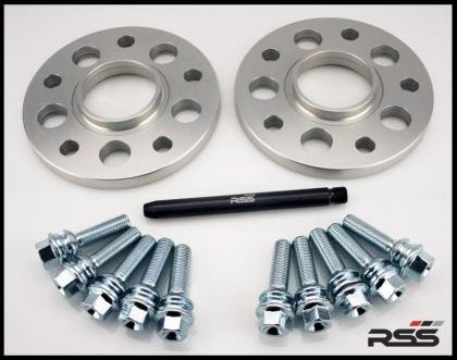 378 18mm - Cayenne Wheel Spacer Kit - Silver Anodi