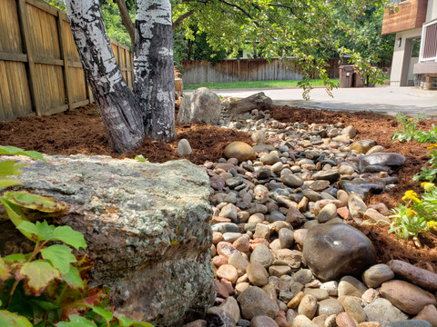 Before and After Rock Creek Installation