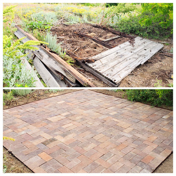 Before and After Paver Patio Instll