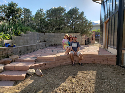Final Picture Flagstone Patio, Wall and Steps
