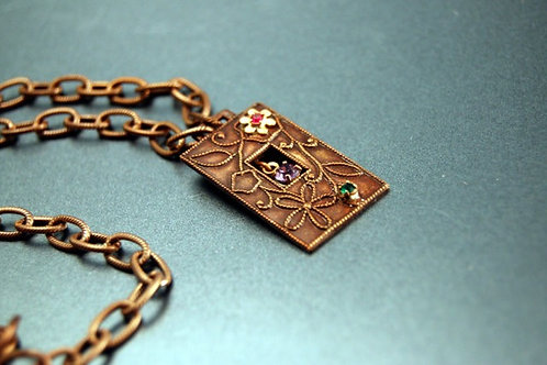 Flower Box Necklace