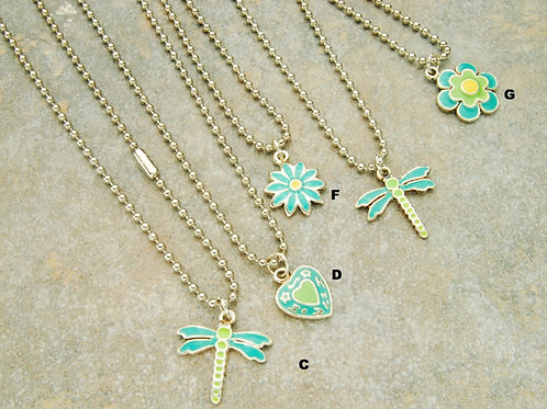 Be Happy Charm Necklaces