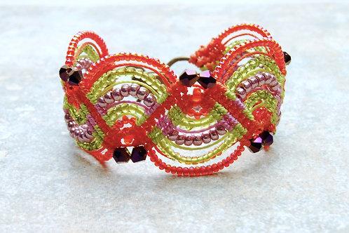 Taffy Candy Macrame Bracelet