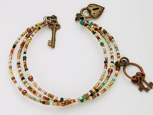Lock & Keys Bracelet