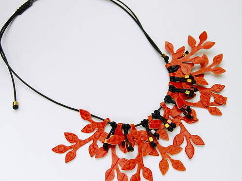 Autumn Branch Leather Necklace