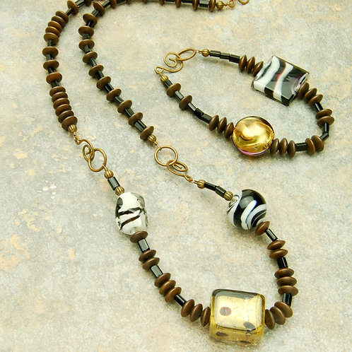 Jungle Fun Convertible Necklace to Bracelet Set
