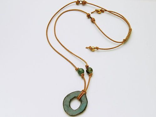 Clay banks Pottery Necklace
