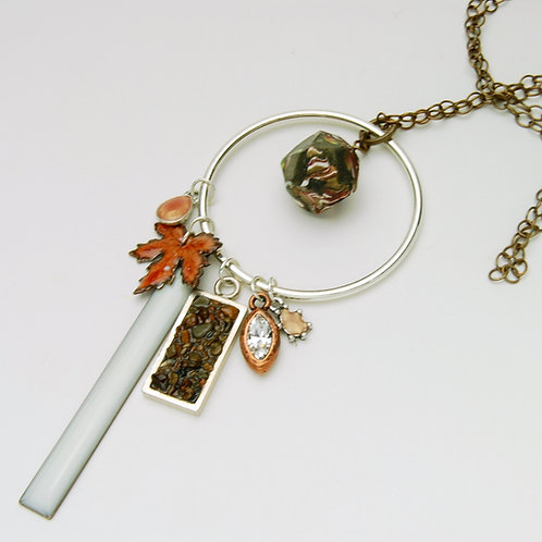Fall Inspired Charm Necklace