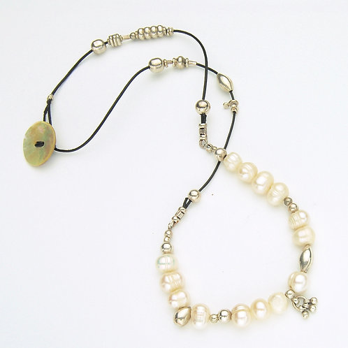 Pearly Button Necklace