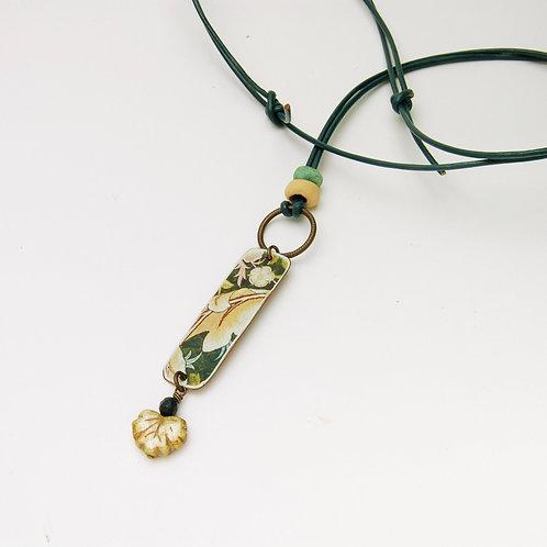 Morris Textile Necklace