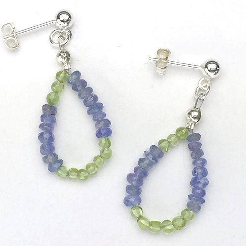 Periwinkle & Green Meadow Earrings