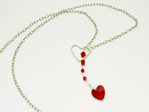 Heart String Lariat Necklace
