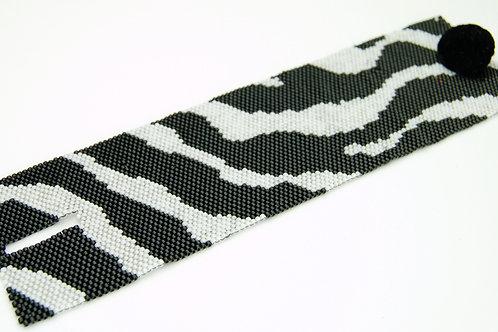 Zebra Beaded Bracelet