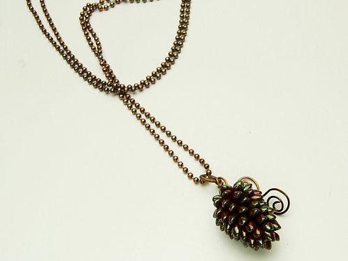 Spring Pine Cone Necklace