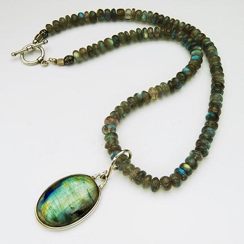 Lake Michigan Water Drop Necklace