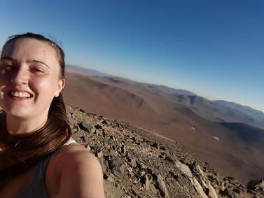 Emily Rickman hiking paranal