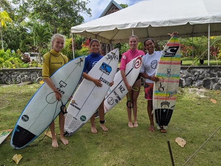 Good finish for female surfers Taleo and John in Samoa