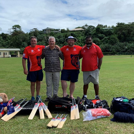 Horowhenua Kapiti Cricket make generous gear donation during tour of Vanuatu