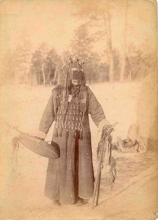 Sciamano buriato, fotografia del 1904