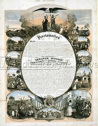 Proclamazione dell'emancipazione degli schiavi afroamericani 1864