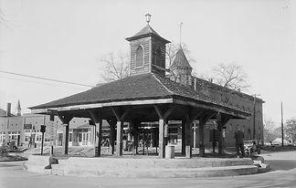 Mercato di schiavi sulla pubblica piazza, Louisville, Georgia.