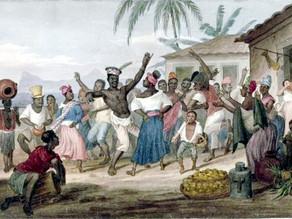 Dipinto in cui si vedono degli schiavi africani che ballano il «jongo»