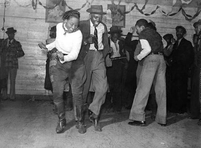 Afroamericani che ballano la Juba- (1925)