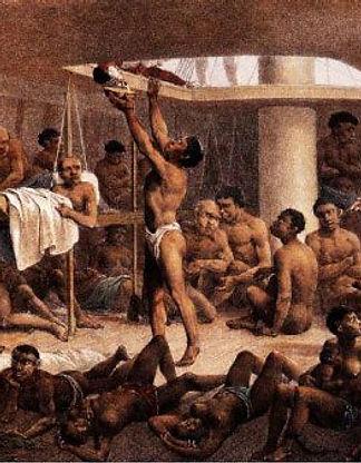 Schiavi africani amassati nella stiva - 1835