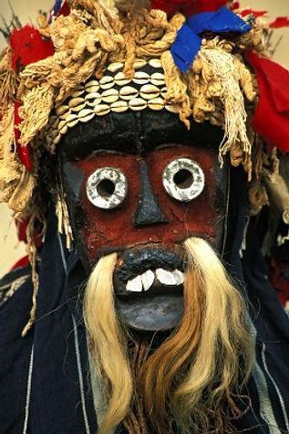 Maschera per i riti sacri delle tribù della Costa D'Avorio