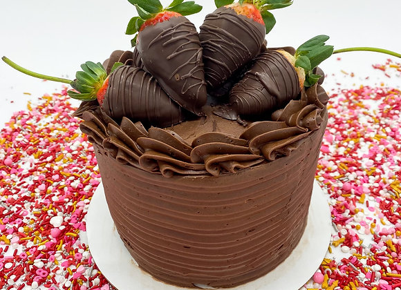 Chocolate Cake w Dipped Strawberries