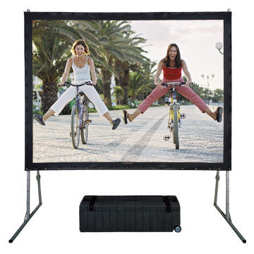 120'' 16:9 fast fold front & rear projection screens with draping