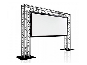 Truss mounted screen