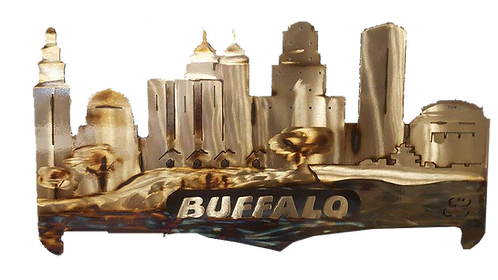 Buffalo Cityscape Wall Hanging