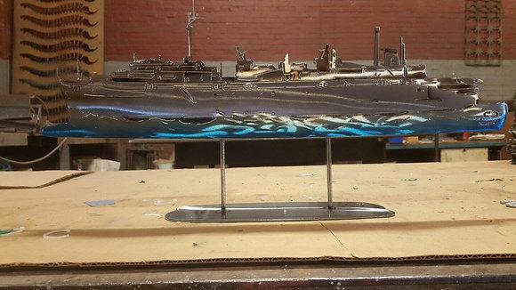 "18"" X 24"" USS Yellowstone W/ Stand (Replica)"