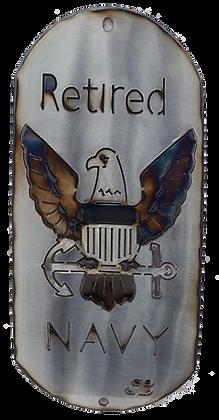 """16"""" Retired Navy Dog Tag"""