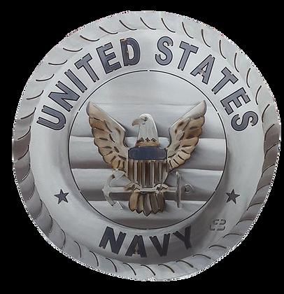 "17"" Navy Medallion"