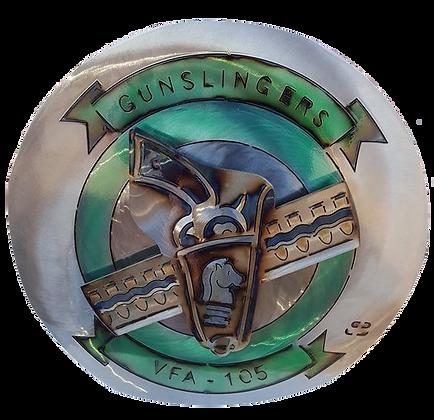 """17"""" Gunslingers VFA-105 Medallion"""