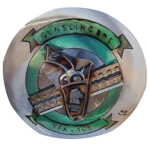 "17"" Gunslingers VFA-105 Medallion"